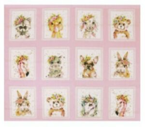 LITTLE DARLINGS FLOWER QUILT PANEL *  * NEW * FREE POST *  GORGEOUS *