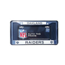1 Pc. Football Metal Oakland Raiders Chrome License Plate Frame Universal