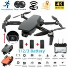 GPS Drone Foldable RC Quadcopter With 4K HD Dual Camera Wifi FPV Wind Resistance