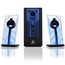 GOgroove BassPULSE 2.1 Stereo Satelliten Lautsprecher Sound System Blau