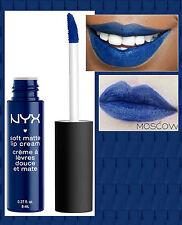 Nyx Crema de Labios Mate Suave Lápiz Labial Líquido-Moscú-Azul Marino