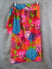 Vintage 60's Alice Fashions Hostess Skirt Size Medium Psychedelic Floral Aloha