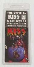 KISS OFFICIAL PHONE CARD SEALED 1996-97