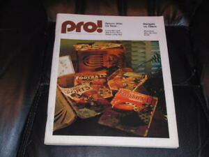 1975 OILERS AT BENGALS NFL FOOTBALL PROGRAM  EX-MINT