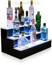 "26"" 3 Step Tier LED Lighted Shelves Illuminated Liquor Bottle Bar Display Stand"