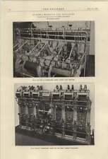 1921 Vickers 1250 Brake Horsepower Engines Tank Ship Narragansett