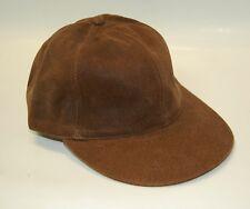 Unisex Leather Plain Baseball Cap Adjustable size