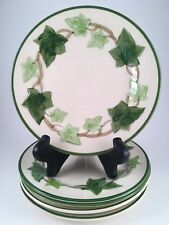 "Lot of 6 ANTIQUE Franciscan IVY 6 3/*"" B&B Cake Plates - 1947 to 1958 - MINT USA"