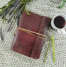 """Tree of Life Leather Journal Unlined Recycled Paper Pages Notebook Diary 10X7"""""""