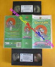 BOX 2 VHS film IL MEGLIO DI TOM & JERRY volume 2 2000 WARNER SCUDI (F142) no dvd