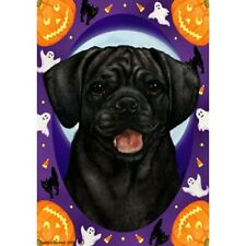 Halloween Garden Flag - Black Puggle 122801