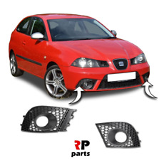 FOR SEAT IBIZA FR 2006 - 2008 NEW FRONT BUMPER FOGLIGHT GRILLE BLACK PAIR SET