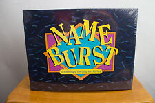 Name Burst - Memory Jogging Party Board Game - Hersch 1992 - Brand New Sealed