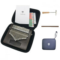 Kalimba 17 Keys Thumb Piano Mbira With Gig Bag Tuner Hammer Walnut Wood