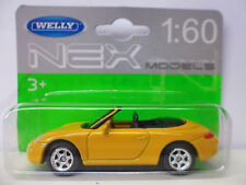 Welly Porsche 911 (997) Carrera S Yellow 1:60 NEX MODELS NEW with Blister