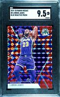2019-20 Panini Mosaic LeBron James #8 Blue Reactive SGC 9.5 Great Investment