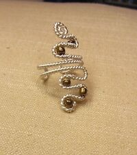 Handmade Silver Tarnish Resistant Silver Wire Wrapped Ring size 6