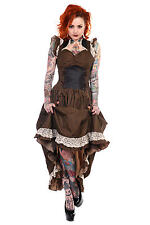 Banned Apparel Unique Brown Gothic Steampunk Dress Victorian Amazing BNWT XL