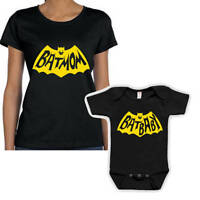 Bat Mom and Bat Baby Mommy and Me Matching T Shirt Set Gift For Mom and baby