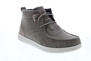 Skechers Melson Forlen 210105 Mens Brown Canvas Ankle Boots