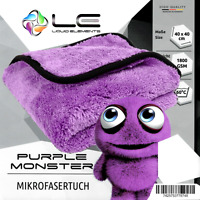 Liquid Elements Purple Monster 40x40cm / 1800GSM / dickes Mikrofaser Poliertuch