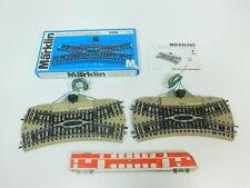 bn707-1 #2x Märklin H0 / AC 5128 bastler-kreuzungsweiche / DKW VOIE M , 1 x OVP