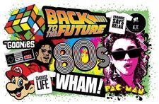 80's Vintage Eighties Image Retro Poster |24 inch X 36 inch| 01