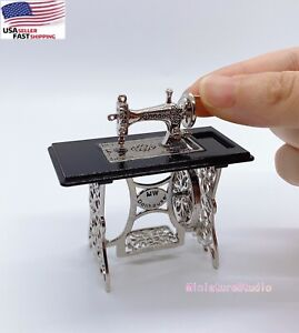 Miniature Furniture 1:12 Dollhouse Sewing Machine toy Dolls Accessory NEW