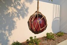 "Reproduction Purple Glass Float Ball With Fishing Net 12"" #F-957"