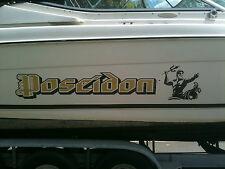 Poseidon Greek God of the Sea 2 Colour Boat Sticker Decal Graphics 11 Piece Kit