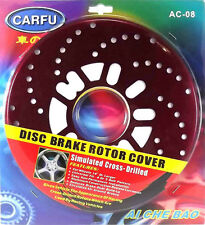 10'' Disc Brake Rotor Covers 2-Pieces Cross Drilled Suits 14'' Wheels or Larger