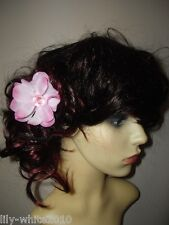 Wedding Hair Clip, Hair Accessory,Glitzy Flower,pink,purple,green,blue, sparkle