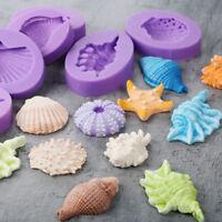 3D Ocean Sea Shell Silicone Mold Fondant Sugarcraft Mold Cake Decor Baking Tool