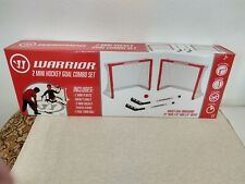 New listing Warrior Hockey Mini Hockey Training Game Combo Set 2 Nets 2 Sticks 1 Ball New