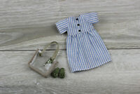 Blythe doll dress blue white accesories bag outfit clothes 1/6 30 cm