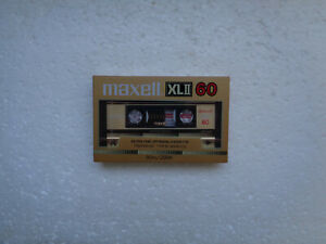 Vintage Audio Cassette MAXELL XLII 60 * Rare From Japan 1985 *