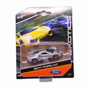 Original Ford GT 2017 1:64 Maisto Silver Car Miniature Collection Figure Art