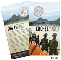 2015 Twenty Cent (20c) Australia Remembers -  Coo-ee March - UNC Australian coin