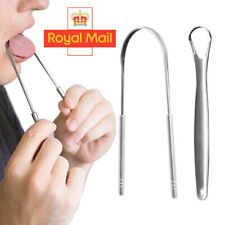 2 Stainless Steel Tongue Tounge Cleaner Scraper Dental Care Hygiene Mouth Oral