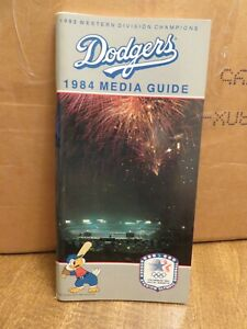PAIR of LOS ANGELES DODGERS 1984 MEDIA GUIDES