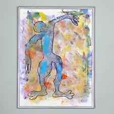 "framed original unique piece ""Erntender"" 41 cm Andreas Loeschner-Gornau"