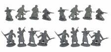 "WWII German Long Coat Soldier Infantry 1/32  2.25"" 16 figures TSSD Bagged Set #4"