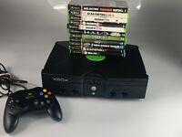 Original Microsoft Xbox Video Game System Console Bundle Black 11 Games