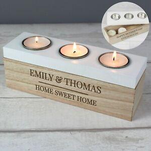 Personalised Candle Tea Light Holder Housewarming New Home Gift Couple Wedding