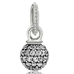 Charms Beads CZ Fashion Spacer Silver Crystal Fit 925 Sterling European Bracelet