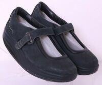 MBT 400105-03 Kaya Black Adjustable Strap Mary Jane Rocker Shoes Women's US 7.5
