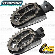 Apico Pro Bite Titanium Grey Wide Footpegs For Husqvarna CR 150 1999-2013