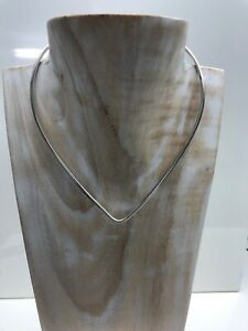Sterling Silver Torque Necklace CH2013