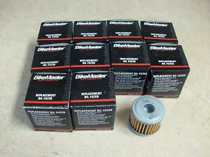 10 PACK OF BIKEMASTER OIL FILTERS FOR 2004-2018 HONDA CRF 450 450X 450R 450RX