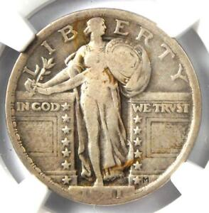 1921 Standing Liberty Quarter 25C Coin - Certified NGC VG10 - Rare Date!